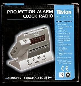 tevion projection alarm clock radio electronics. Black Bedroom Furniture Sets. Home Design Ideas