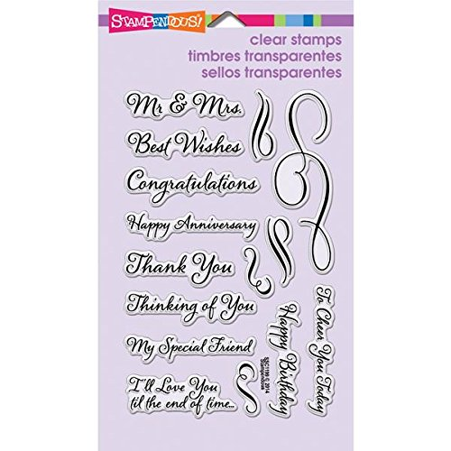"Stampendous Perfectly Clear Rubber Stamp, ""Loving Messages"""
