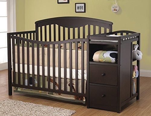 Sorelle Presley Crib and Changer in Espresso (Espresso Crib Sorelle compare prices)