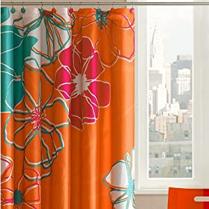Madison park valencia shower curtain with - Madison park bathroom accessories ...