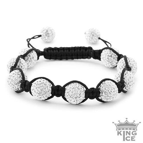 White Swarovski Crystal Jabari Bracelet