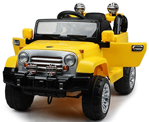 new premium jeep wrangler style 12v ride on toy car for kids with remote control by kidsviponline