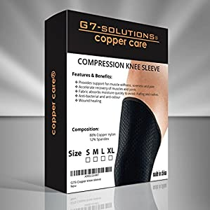 Knee Sleeve, Knee Brace, Copper Compression Health Wear, Pain Relief, Joint Protection, Stability, Anti Odour, Accelerates Recovery, Allows Freedom of Movement, Prevents Stiffness, High Copper Content, Enhances Healing, Hygienic, Restriction Free