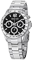 """SO&CO New York Men's 5001.1 """"Monticello"""" Stainless Steel Silver-Tone Watch by SO&CO MFG"""