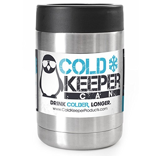 ColdKeeper Double Insulated Personal Beverage Cooler Can - Fits All Standard 12oz Cans and Bottles (12oz Compatible, Stainless Steel) (Cooler Can compare prices)