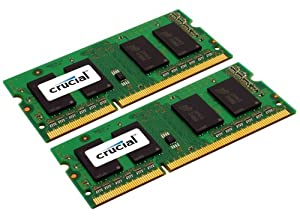 Crucial CT2KIT25664BC1067 4GB 204-PIN PC3-8500 SODIMM DDR3 Memory KIT (2GBx2)