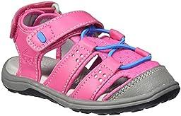 See Kai Run Kenai Closed Toe Sandal (Toddler/Little Kid), Hot Pink, 9.5 M US Toddler
