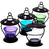 Tea Light Candle Holder Multi Colored Decorative For Home Décor - Set Of 4