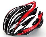 Horizon 超軽量 高剛性 自転車用 サイクリング ヘルメット アジャスターサイズ調整可能 (ブラック、ホワイト、レッド)