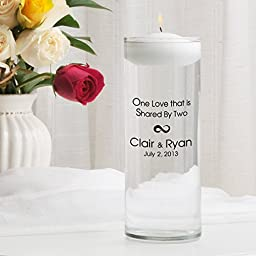 Personalized Floating Wedding Unity Candle- One Love