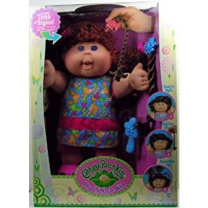 Cabbage Patch Kids Pop 'N Style Doll - Red Hair & Blue Eyes in Blue Heart Outfit