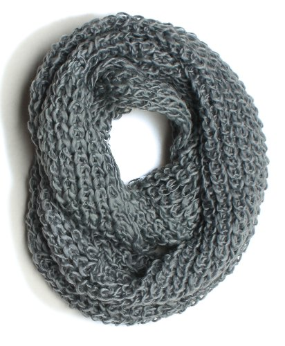 ForeverScarf Thick Knitted Solid Infinity Loop Scarf