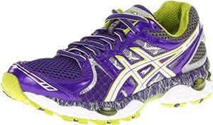 Asics Women's GEL-Nimbus 14 L.E Running Shoe,PurpL.E/Lime/Charcoal,8 B US