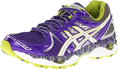 Asics Women's GEL-Nimbus 14 L.E Running Shoe,PurpL.E/Lime/Charcoal,6 B US