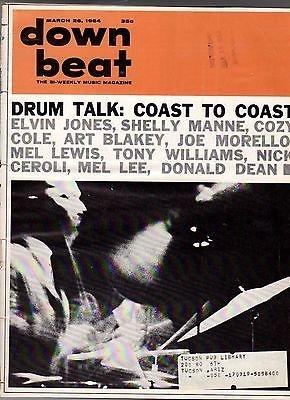 1964 Down Beat March 26 - Drum Talk; Wynton Kelly; Pete La Roca; Villanova Jazz