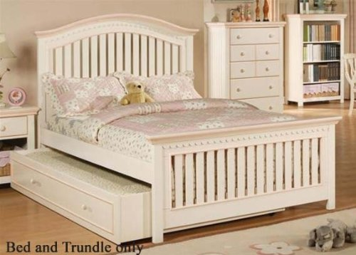 Full Size Bed With Trundle In Cream Finish front-903486