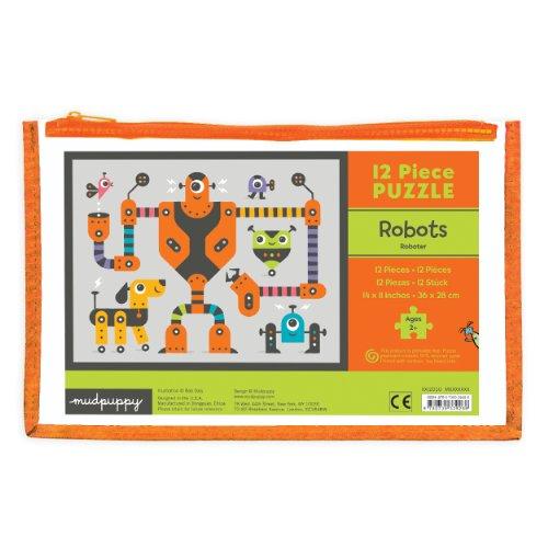 Mudpuppy Robots Pouch Puzzle