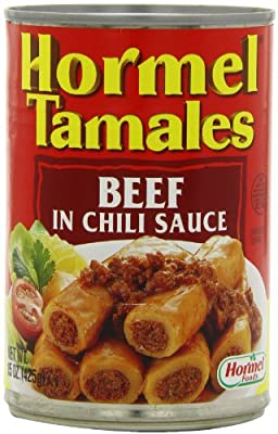 Hormel Beef Tamales, In Chili Sauce, 15-Ounce Units (Pack of 12) from Hormel