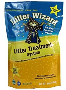 Litter Wizard System Cat Litter Box Deodorizer Granules, 8-Pound Bag