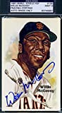 WILLIE MCCOVEY Coa Autograph Perez Steele Postcard Hand Signed - PSA/DNA Certified - MLB Cut Signatures
