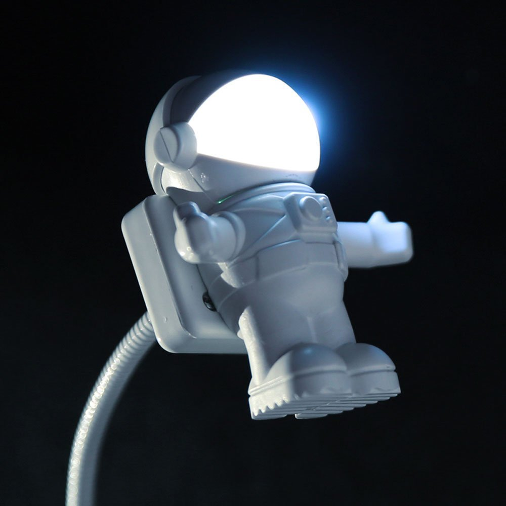 Soondar® Hot Sale Brand New Creative Spaceman Astronaut LED Flexible USB Light for Laptop PC Notebook