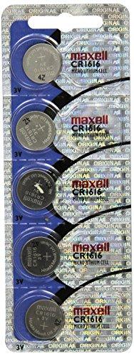Lot de 5 piles Lithium CR1616 Maxell