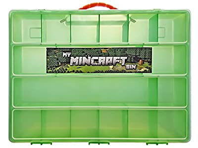 Minecraft Mini Figure Compatible Storage Case with Carrying Handle- My Mincraft Bin Carrying Case Holds 100's of Minecraft Mini Figures, Great for Minecraft Mini Figure Collectors from Life Made Better