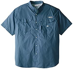 Columbia Sportswear Men's Bonehead Short Sleeve Shirt, Blue Heron, 3X