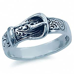 925 sterling silver belt buckle ring jewelry