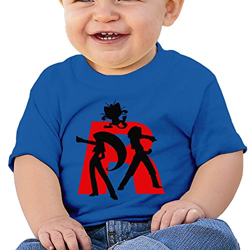 Jirushi Infants &Toddlers Baby's Poke Team Rocket RoyalBlue T Shirts For 6-24 Months (Saw Costume Ideas)