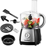 VonShef 2.5L Powerful Food Processor Blender Chopper Multi Mixer 700W Black - 10 Speed and Pulse Action + FREE Juicer Attachment