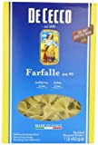 De Cecco Farfalle, 16 Ounce Boxes (Pack of 5)