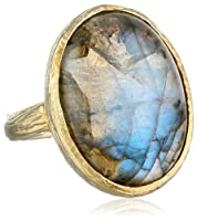 Sterling Silver with Labradorite Stone Ring by Chateau D'Argent Inc