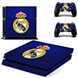 PS4 Console and DualShock 4 Controller Skin Vinyl Set - Real Madrid-Soccer Sport