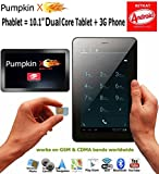 "10.1"" 3G PHABLET (Tablet + Phone) 32GB KITKAT 4.4 [DUAL Core] w/ 2GB RAM + Dual Cameras + Bluetooth +GPS +FM - Pumpkin X"