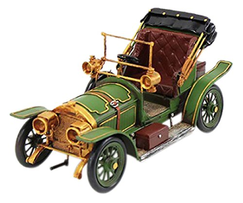 Lesser & Pavey 6-Piece Metal Vintage Car Collectible, Green/Gold