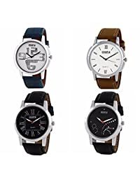 Oura Analog Round Formal Official Wear Watch For Men Combo Of 4pc