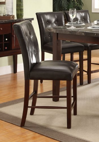 Homelegance 2456-24 Counter Height Chair Upholstered, Set of 2 Get ...