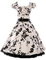Women Vintage Dresses Retro 1950s Floral Party Dress