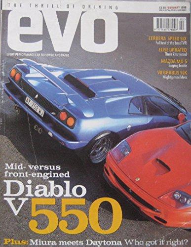evo-magazine-02-1999-issue-4-featuring-tvr-cerbera-ferrari-lamborghini-brabus
