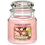 Yankee Candle 1038356E Candle, Pink. Fragrance - fresh cut roses
