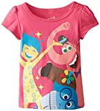 Disney Little Girls' Inside Out Tee, Pink, 2T