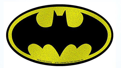C&D Visionary DC Comics Batman Logo On Glitter Sticker