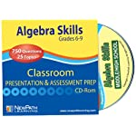 NewPath Learning Algebra Skills Interactive Whiteboard CD-ROM, Site License, Grade 6-10
