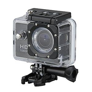 Excelvan TC-DV6 12MP 30M Étanche WIFI Caméra Sport FHD Vidéo DV H264 1080p Caméra Embarquée + Kit de Accessoires Montage - Noir