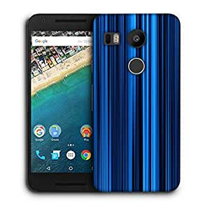 Snoogg Blue Rays Printed Protective Phone Back Case Cover For LG Google Nexus 5X