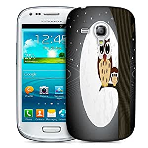 Snoogg Owl Sit On Branch With Baby Owl Designer Protective Back Case Cover For Samsung Galaxy S3 Mini