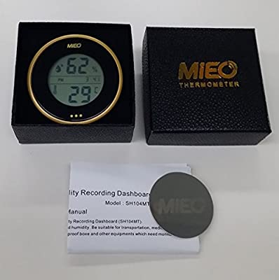 Incubator Thermometer Hygrometer with Hi/Low Memory and Touch Checking Button Gold Pack.Mieo?