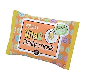 KOREAN COSMETICS, ENPRANI_ HolikaHolika, Holiday Vita C Daily Mask 10 sheets (clear, bright skin, brightening, skin tone)[001KR]