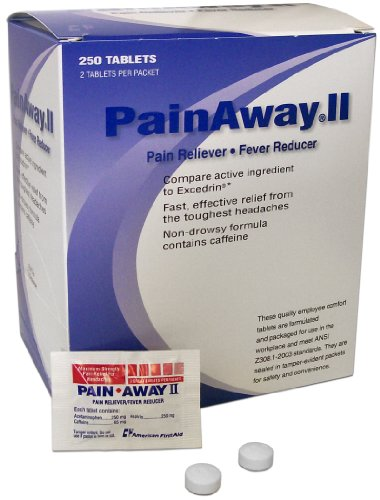 Pain Away® II Individually Packaged Pain Reliever/Fever Reducer (250/Box)